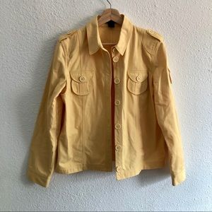 Marc Jacobs yellow 100% cotton button up jacket